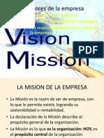 Misión y valores de la empresa