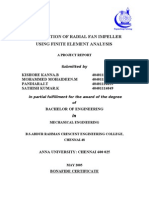 Optimization of Radial Fan Impeller Using Finite Element Analysis-report[1]