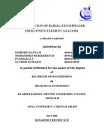 Optimization of Radial Fan Impeller Using Finite Element Analysis-report[1]