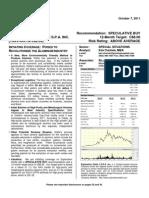 Jennings Capital Report Oct. 7, 2011