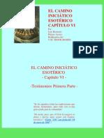 El Camino Iniciático Esotérico Capítulo VI