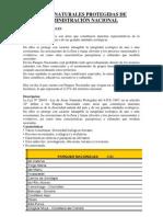 ÁREAS NATURALES PROTEGIDAS DE ADMINISTRACIÓN NACIONAL