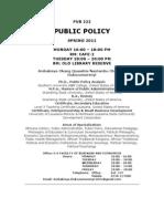 Public Policy Syllabus