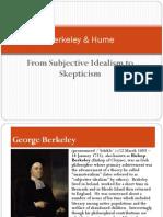 Berkeley and Hume
