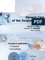 General Care of the Surgical Patient