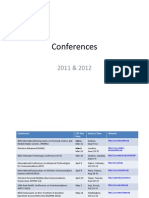 List Conferences 2012
