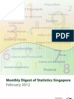 Monthly Digest of Statistics Singapore February 2012