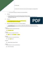 Forensics Study Sheet