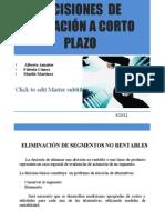 DECISIONES  DE OPERACIÓN A CORTO PLAZO