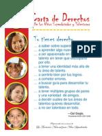 Carta de Derechos de los Niños Superdotados y Talentosos