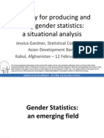 Capacity for producing and using gender statistics