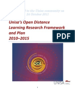 20120323_ODL_Research_Plan_2010-2015_Circulated to Unisa Community 24 October 2011
