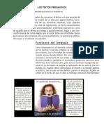 LOS TEXTOS PERSUASIVOS - Publicidad-propadanda