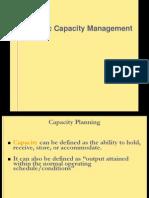 Strategic Capacity Mgmt