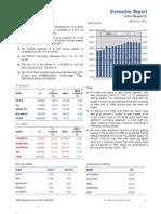 Derivatives Report 23 March 2012