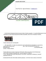 Max Team Successo Alla Cornosquadre Della Versilia