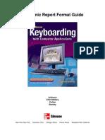 Academic Report Format Guide