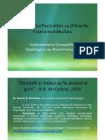 Tratamentul Pacientilor Cu Difunctie Craniomandibulara