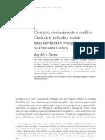 Ruy Llera Blanes (2007) Contacto Conhecimento e Conflito Etnografica