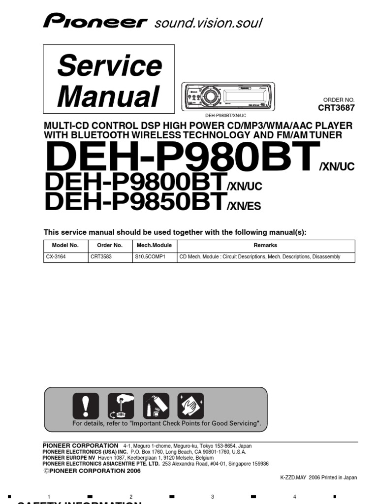 1512155712?v=1 service (repair) manual for pioneer deh p9800bt electrical pioneer deh-p9800bt wiring diagram at panicattacktreatment.co