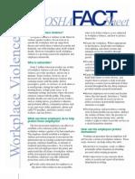 Factsheet Workplace Violence