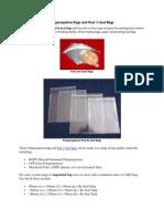 Polypropylene Bags and Peal 'n Seal Bags