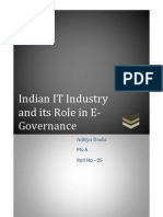 Indian IT Industry and Its Role in E-Governance