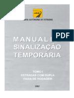 Manual de Sinalizacao Temp or Aria JAE 1997 - Tomo I - Estrada