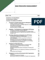 L6 Strategic Human Resouce Management Manual Advance Edition