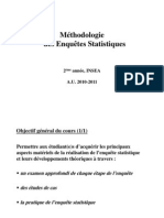 Méthodologie des enquetes statistiques,Mme BAKKAS, 2010-2011