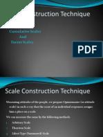 Scale Construction Technique