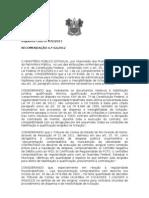 RECOMENDAÇÃO CONTRATAÇÃO PELA SESAP