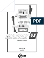 Matrix Sx Manual Operating Guide