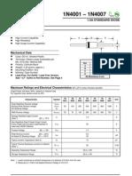 Diodo Rectificador 1N4007 Datasheet