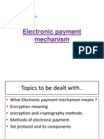 Electronic Payment Mechanism