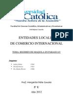 Regimen de Maquila en Paraguay
