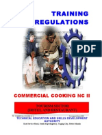 Commercial Cooking NC II TR TESDA