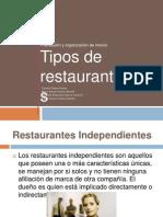 Tipos de restaurantes