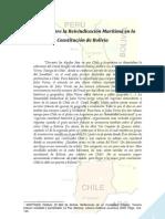 La Reivindicación Marítima en la Constitución de Bolivia - 2012