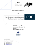 Tarification actuarielle contre financière