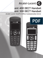 Alcatel-Lucent 300 400 Dect Manual Omnipcx Office