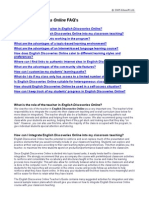 Teachers FAQ English Discoveries Online