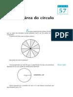 A área do círculo