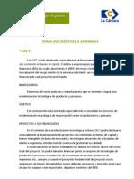 FONTAR - TIPOS de Creditos a Empresas