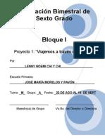 6to Grado - Bloque 1 - Proyecto 1