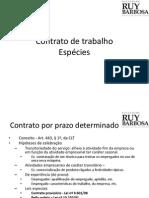 PONTO 5 - CONTRATO DE TRABALHO - ESPÉCIES