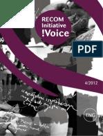 RECOM Initiative !Voice - 4/2012
