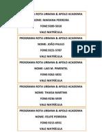PROGRAMA ROTA URBANA - 01