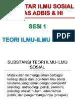 PIS Sesi 1 Teori Ilmu-Ilmu Sosial