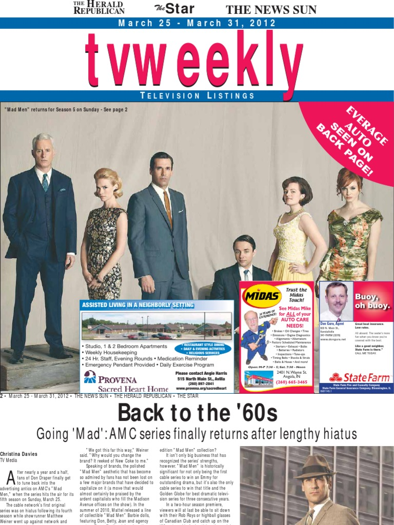 Tv weekly march 25 2012 cbs american television networks sciox Choice Image